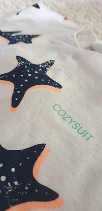 LAST ONE 3-6m Starfish Wish Bonds Romper