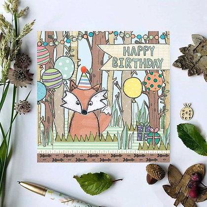 Mr. Fox Birthday Card