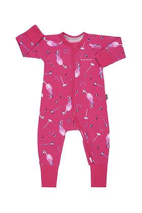 Freya Flamingo Does Croquet Wondersuit 0-3M