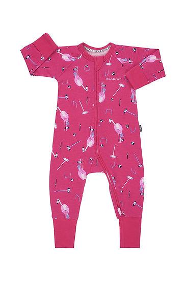 Freya Flamingo Does Croquet Wondersuit