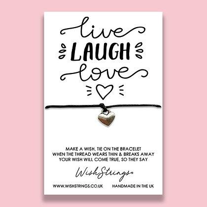Live Laugh Love WishString