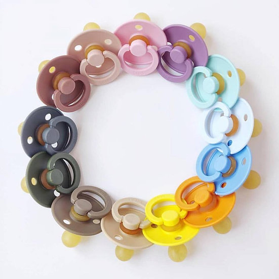 2 Pack BIBS BPA-Free Natural Rubber Baby Pacifier