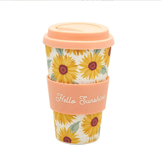 Sunflower Bamboo Coffee Cup
