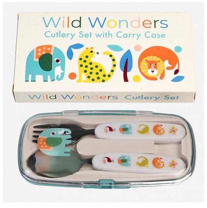 Wild Wonders Cutlery Set in Case