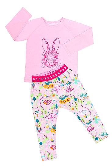 Kids Pyjama Set - Easter Bunny Hunt Pink