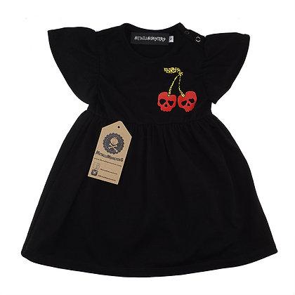 MetalliMonsters Leopard Cherry Skull Baby Dress