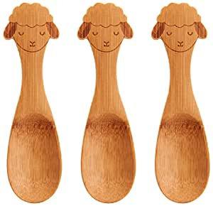 Baa Baa Lamb 3 pack Bamboo Spoon Set