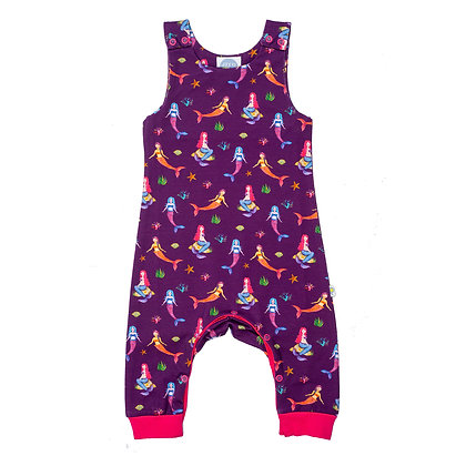 JECO 'Mystical Mermaids' Purple Dungaree's