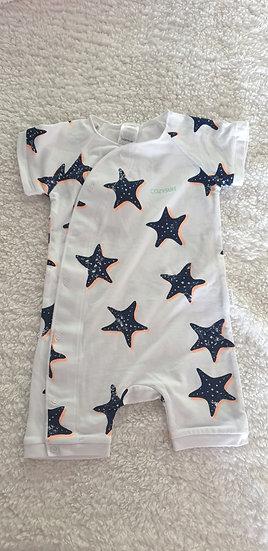 Starfish Wish Cozysuit Short Sleeve Romper