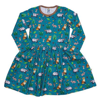 JECO 'Magical Meadow Fox' Long Sleeve Dress