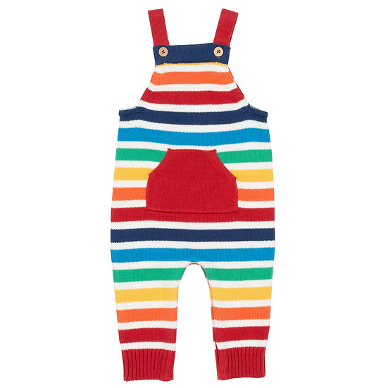 Rainbow knit Dungarees