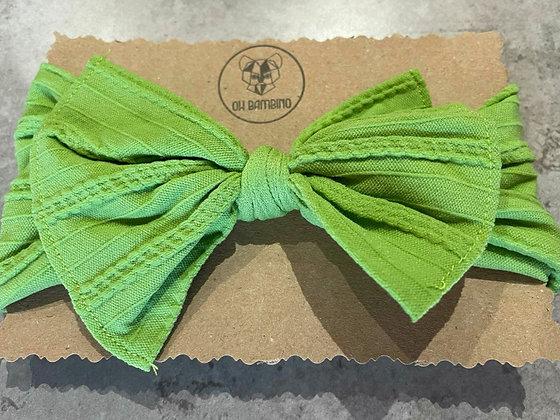 Stretchy Baby Bow Headband - Kiwi
