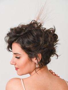 Modern Wedding Updo Short Hair
