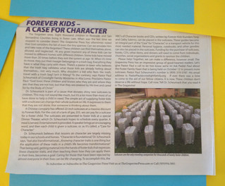 Rancho Cucamonga's Grapevine Press Features A Case for Character