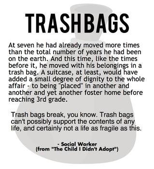 """Trash Bags - An Excerpt from """"The Child I Didn't Adopt"""""""