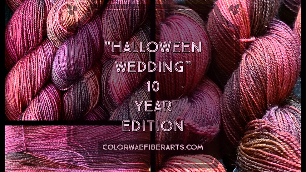 Halloween Wedding Sparkle Sock, 10 year anniversary
