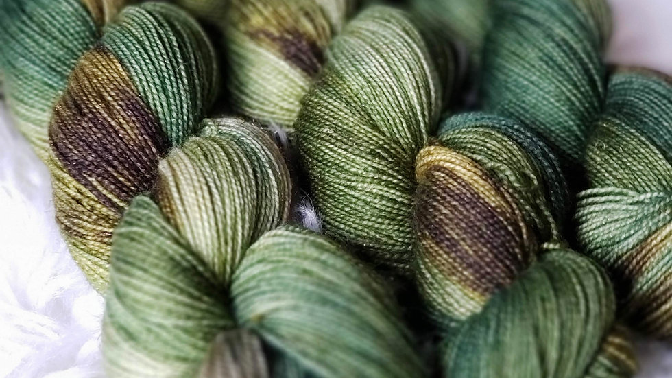 Hemlock on Color Sparkle Sock