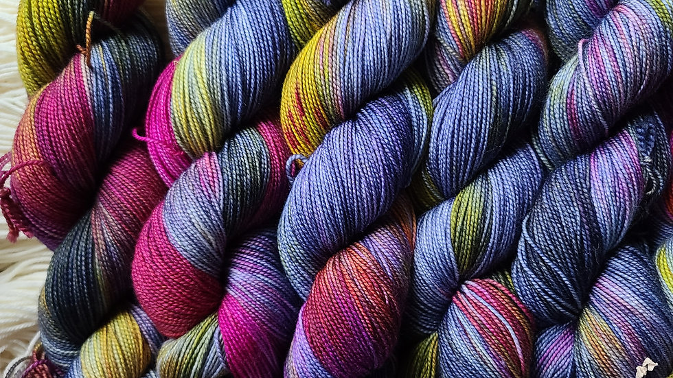 Sunset at Linganore OOAK Batch on Color Sock