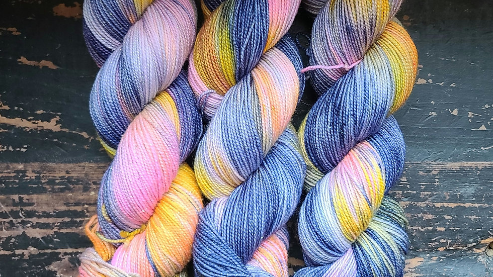Sunset at Linganore on Color Sparkle Sock