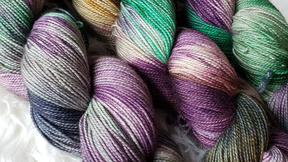 Witches Brew on Color Sparkle Sock