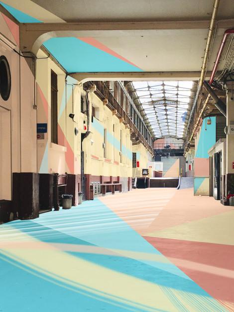 rue du faubourg du temple, digital painting, 2020