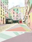 Rue clavel, digital painting, 2020