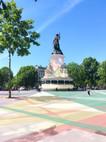 Place de la république, digital painting, 2020