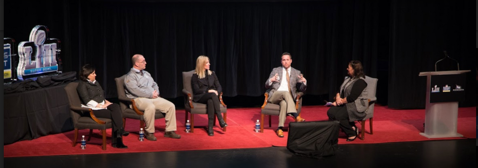 NFL Contractor Panel - Leah Linke (On Location Experiences), Mike Kavorkian (S.A.F.E. Management), Carolyn Lesley (Noel Lesley Event Services) & R.J. Orr (bluemedia) - shares insider information & tips about working with NFL Contractors. Panel moderated by B.J. Waymer, NFL Business Connect