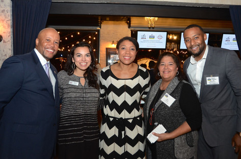 Business Connect Team - Hastings Stewart, LaMecia Butler & B.J. Waymer - with Houston vendors