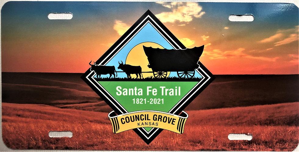 Council Grove - Santa Fe Trail License Plate