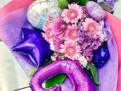 大阪 花屋 バルーン 花束 ブーケ 誕生日 記念日 成人式 母の日
