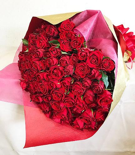 花束 ブーケ 誕生日 記念日 成人式 母の日 薔薇 100本 バラ