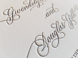 Hand Calligraphy Letterpress Names