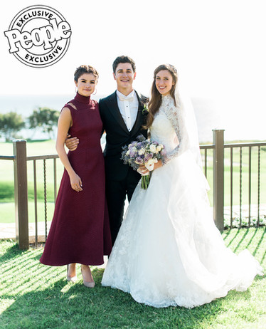 People Magazine Maria Cahill & David Henrie Wedding