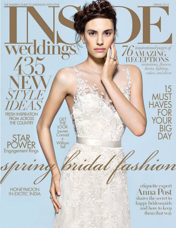 Inside Weddings Cover Spring 2015