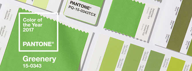 Greener Days Ahead - Introducing the #Pantone Color of the Year for 2017, #Greenery
