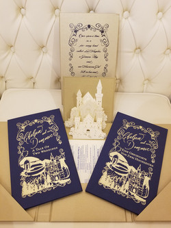 Fairytale Wedding storybooks with pop up