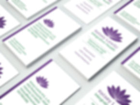 custom business cards for integrative health practice