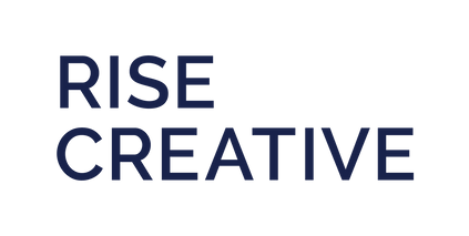 rise creative wordmark navy