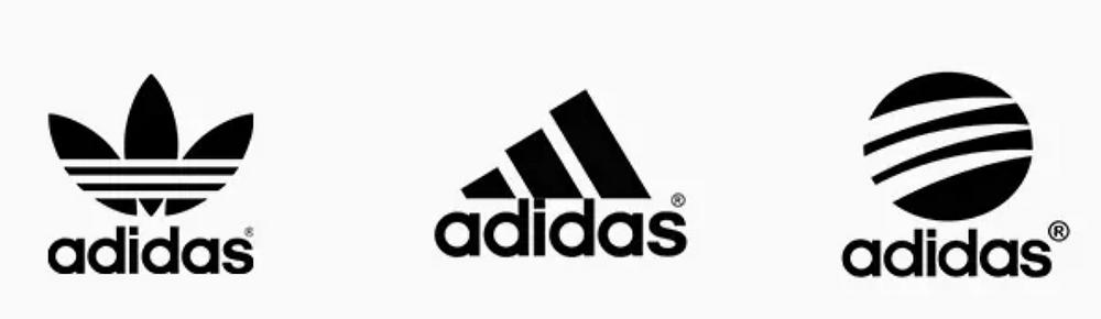 Adidas brand system design logos