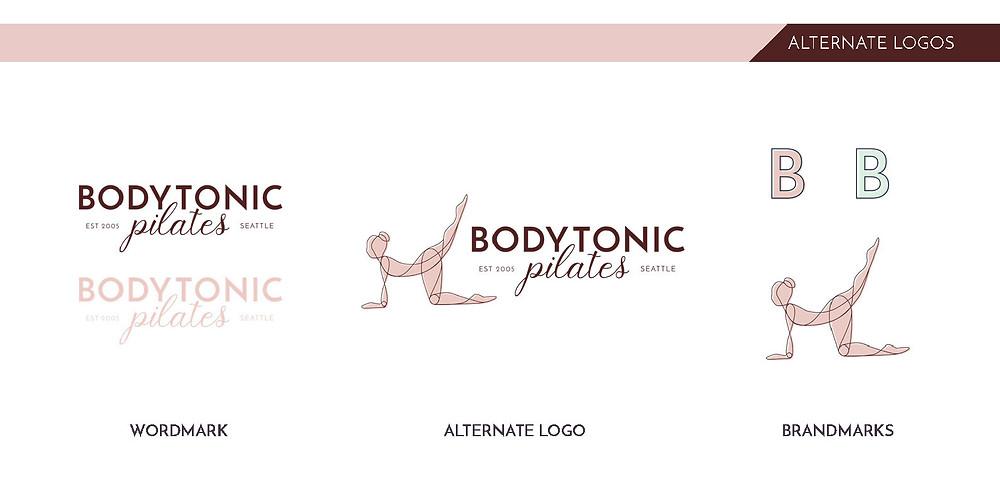 brand system design for bodytonic pilates