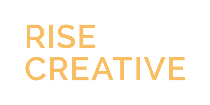 rise creative wordmark orange