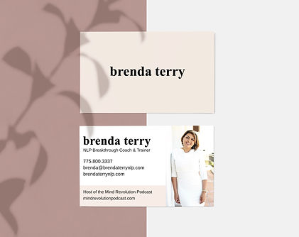 Business card designs for Personal Coach