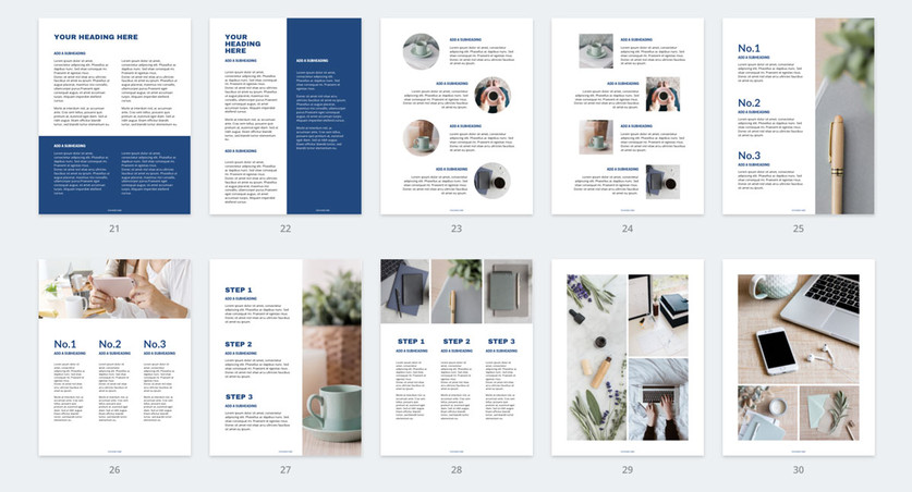 free lead magnet template blue