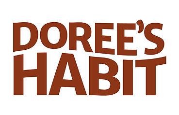 Dorees Habit flat logo design