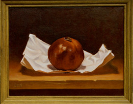 Pomegranate on White Paper