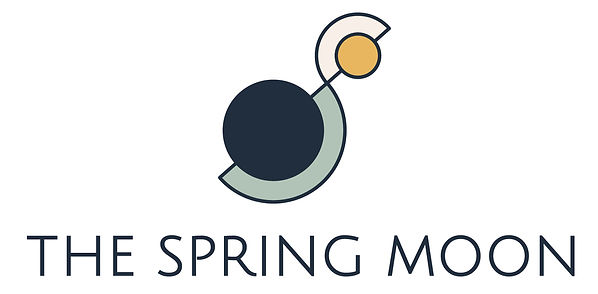 The Spring Moon primary logo design