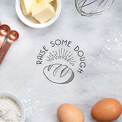 raise some dough brand identity design