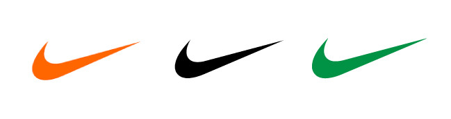 nike logo in different colours