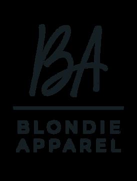 blondie apparel stacked logo